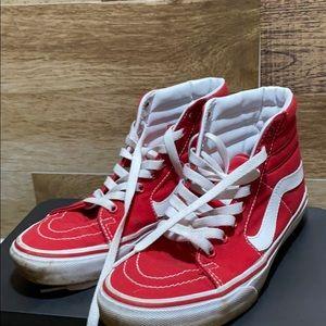 Vans Red Sk8 Hi's